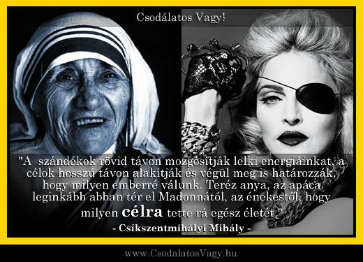 Miben különbözik Teréz anya Madonnától?