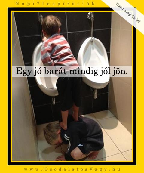 Egy jó barát mindig jól jön.