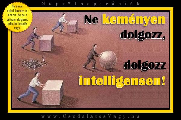 Ne keményen dolgozz, dolgozz intelligensen!